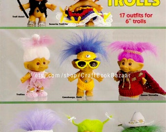 17 Outfits Troll Clothes Crochet Pattern Baby Child Toy Troll Doll Clothes Vintage Crochet Pattern PDF Instant Download - 2157