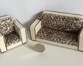 Art Deco Geometric Style Sofa 112th scale