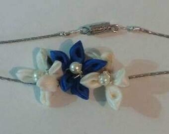 Three Cloth Flower Bracelet