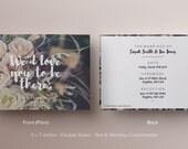 Einfache Hochzeitseinladung / Floral Einladung / Trauung & Hochzeitsfeier / digitaler Download / druckbare Hochzeit Einladung