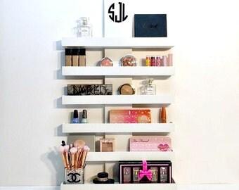 Delightful Makeup Organizer | Makeup Storage | Wall Mounted Makeup Shelf | Nail Polish  Holder | Makeup