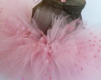 Newborn Tutu, Pink Newborn Tutu, Light Pink Tutu, Tutu Skirt with headband, Newborn Tutu Set, Baby Tutu