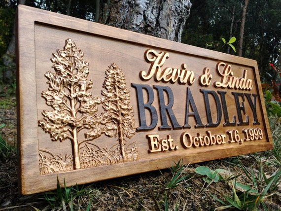 Rustic Wedding Signs Wood Wall Art Personalized Couples Gift