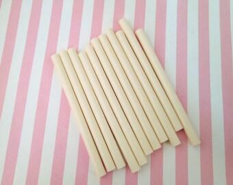 10 Ivory glue sticks for drippy deco sauce, cell phone deco etc,