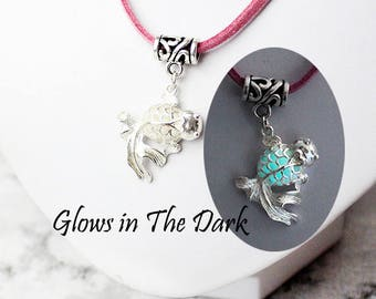 aqua necklace fish jewelry romantic necklace blue jewelry/for/girl gift glow necklace pink choker charm necklace gift friend birthday Ся16a