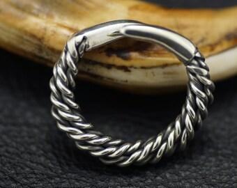 Viking Style Fine Silver (.999) Talon Thumb Ring US Size 12 Adjustable