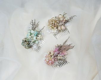 Flower hair comb Pastel hair comb Colorful hair comb Romantic hair comb Hair accessories