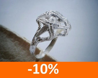 Starfish Ring - Holiday Jewelry - Sterling Silver - Free Shipping - 10% SPRING DISCOUNT