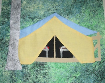 Camp Tent Quilt Pattern
