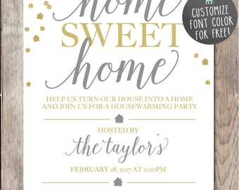 Einladung Zur Einweihungsparty, Einweihungsparty Einladung, Druckbare  Einladung, Home Sweet Home, Unsere Neue