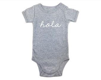 Hola Baby Onesie, baby shower gift, hola onesie