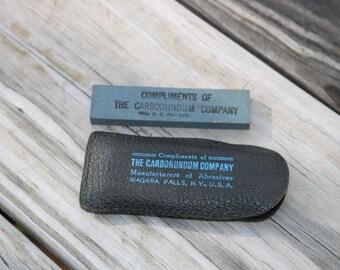 Pocket stone from The Carborundum Company
