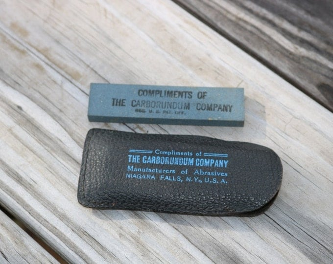 Pocket stone from The Carborundum Company