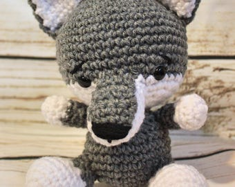 Crochet wolf stuffed animal toy | Made to order |Amugurumi |Child's toy