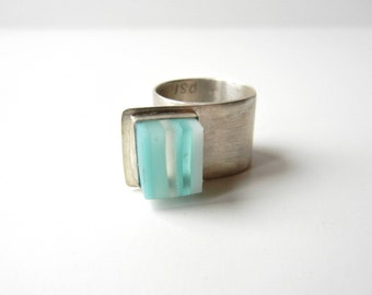 Mille-Feuilles Glass Offset Ring