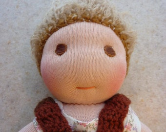 "13"" Doll, Waldorf Doll, Sock Doll, Wool Doll"
