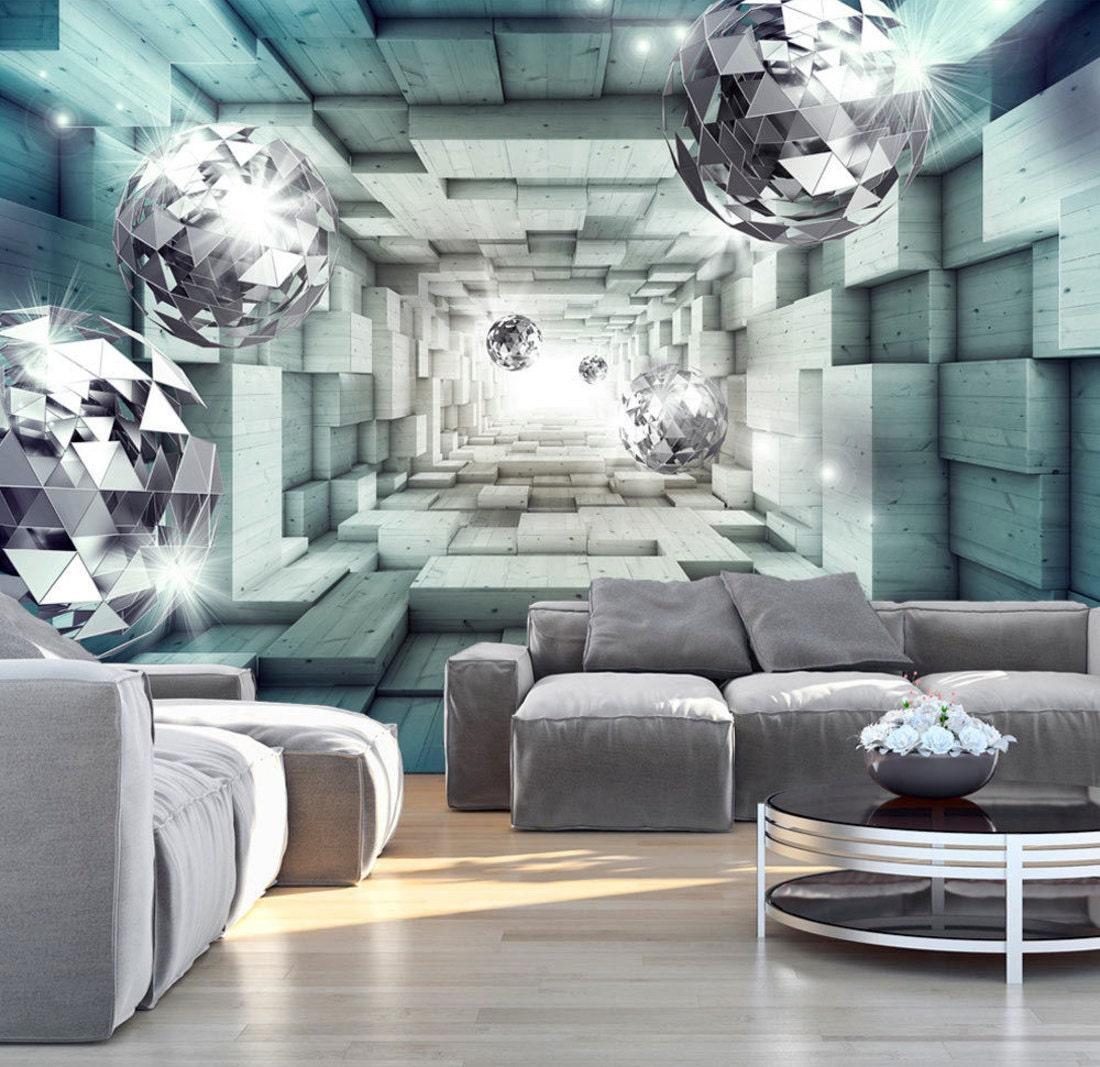 photo wallpaper wall murals non woven 3d modern art optical. Black Bedroom Furniture Sets. Home Design Ideas