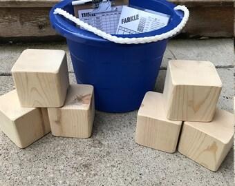 DIY yardzee game set- farkle game- make your own