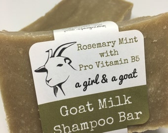 Solid Goat Milk Shampoo Bar with nourishing raw honey