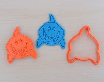 Grinning Shark Cookie Cutter and Stamp Set