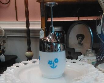 Vintage Gemco Milk Glass Nut Chopper