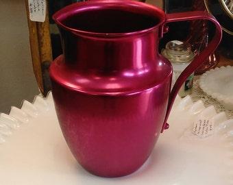 Vintage Spun Aluminum Norbenware Pitcher - Beautiful Retro Pink!