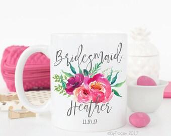 Bridesmaid coffee mug.Bridesmaid gift.Bridal party gifts.Maid of honor gift.Bridesmaid cup.Matron of honor gift.Coffee mug.Coffee.mug
