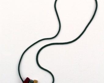 Handmade necklace/minimalist necklace/wood/wooden necklace/wooden jewelry/rope necklace/pendants/burgund/grey/golden/dots/cotton