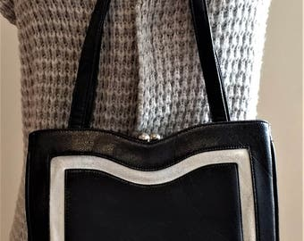 1960s Bags by Francois of CA Genuine Leather Classic Handbag