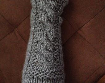 Outlander Inspired cable knit arm warmer sleeves