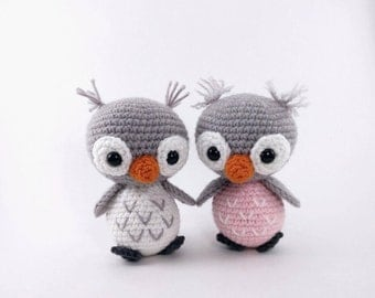 PATTERN: Crochet owl pattern - amigurumi owl pattern - crocheted owl pattern - owl amigurumi - PDF crochet pattern