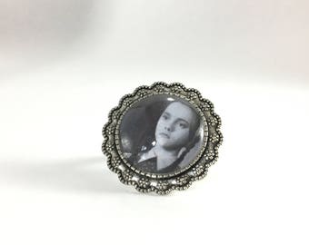 Wednesday Addams from The Addams Family Movie (1991) Ring / Handmade Horror Movie Jewelry / OOAK gift for her / Halloween