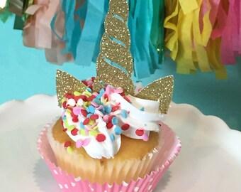 Unicorn Cupcake Toppers, Unicorn Horn Cupcake Toppers, Unicorn Cupcakes, Make your Own Unicorn Cupcakes, Unicorn Horns Cupcake Toppers