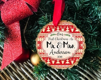 First Christmas As Mr And Mrs, Our First Christmas Ornament, Our First Christmas, Mr And Mrs Ornament, Newlywed Christmas Ornament