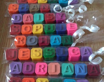 Personalised Name Crayons | Crayon Gift | Children's Gifts | Party Favours | Crayon Name | Alphabet Crayons | Novelty Gift | Letter Crayons