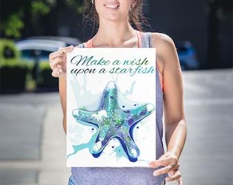 Starfish Nursery Art, Starfish Wall Art, Kids Sea Theme Decor, Starfish Art Decor, Decorative Starfish, Sea Animal Wall Decor, Starfish Art