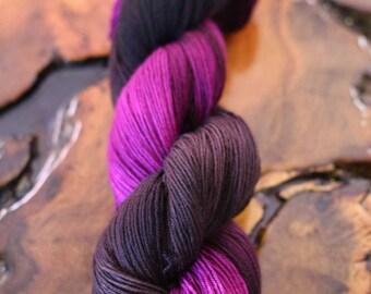 """Hand Painted """"Raspberry Truffle"""", Super Wash Merino, Sock, Sock Yarn, Knitting, Crochet"""