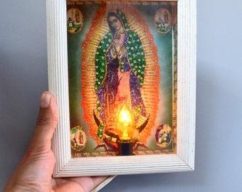 Vintage Light up Virgin Mary Nicho/Shrine