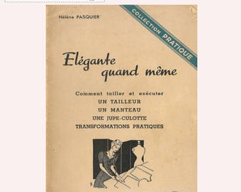 """Instant download PDF 40's french vintage sewing booklet  """"Elegante quand même"""" including  21 draft it yourself sewing patterns"""