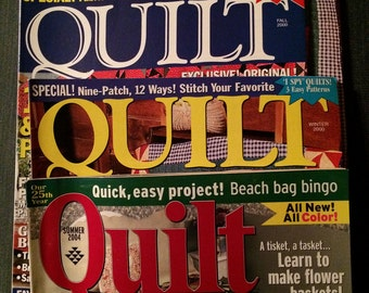 Quilt magazine - 3 issues