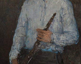 Clarinetist, 47.2x23.6 inches