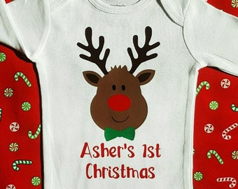 Christmas Outfit || My First Christmas Outfit Boy | baby boy christmas clothes my 1st Christmas shirt first Holiday shirt baby boy outfit