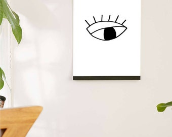 Printable Wall Art Prints, Instant Download Printable Art, Printable Quotes, Digital Print, Digital Download, Modern Eye Print