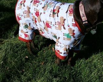 dog christmas pajamas moose print pajamas large dog pajamas flannel custom sizes
