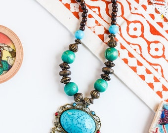 SINGHAAR NECKLACE   boho chic choker bollywood inspired pakistan indian jewellery