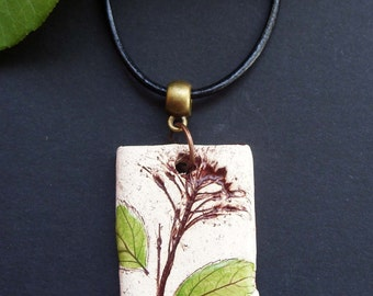 Pendants-ceramic with floral motif