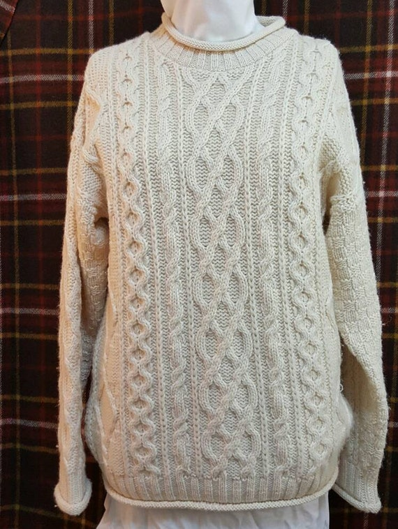 aran crafts wool irish knit aran fisherman pullover sweater