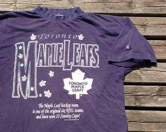 Vintage 90's 1994 Toronto Maple Leafs Softwear Athletics Vintage t-shirt Made in Canada large