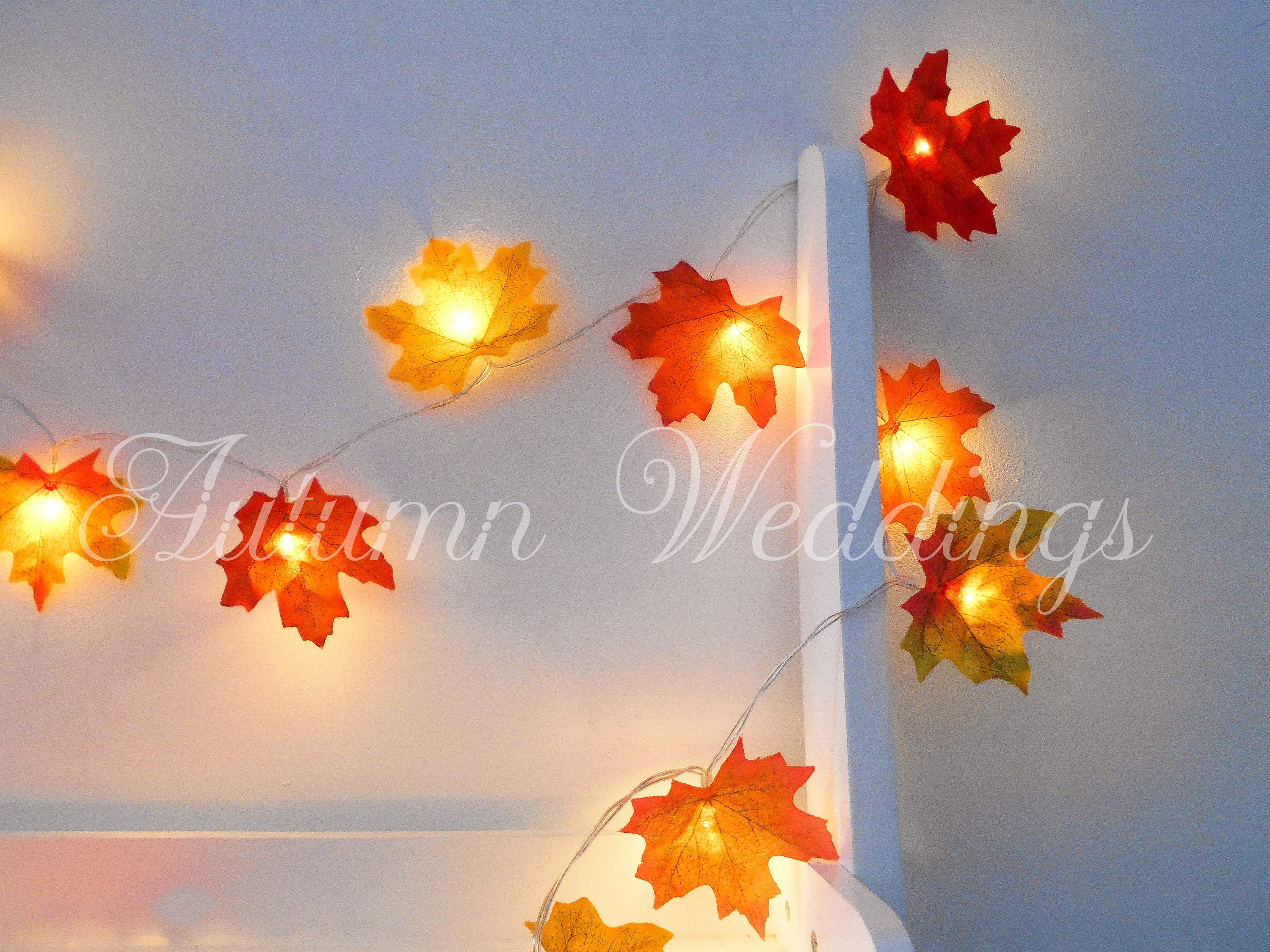 Night lights baby bunting - Autumn Fairy Lights 1 10m Mixed String Lights Autumn Leaves Wedding Decorations Led Garland Battery Operated Leaf Weddings Wedding Decor