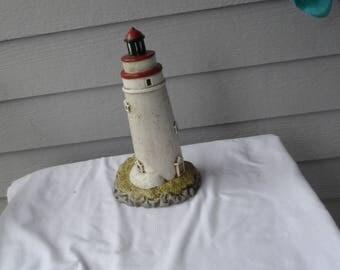Vintage 1992 Geo. Z Lefton  Nightlight  Lamp Marblehead 1821 Lighthouse   1344